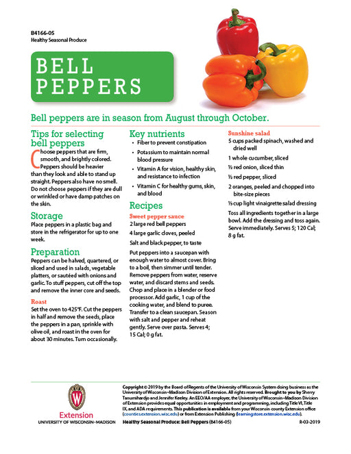 Healthy Seasonal Produce: Bell Peppers