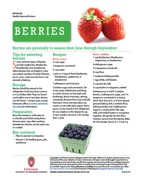 Healthy Seasonal Produce: Berries