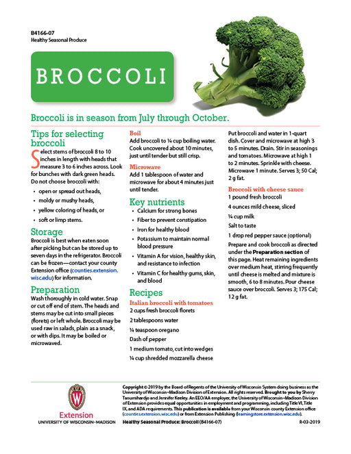 Healthy Seasonal Produce: Broccoli