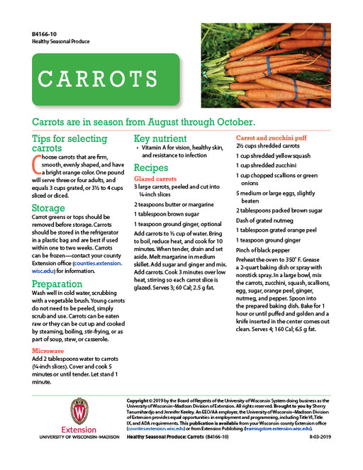 Healthy Seasonal Produce: Carrots