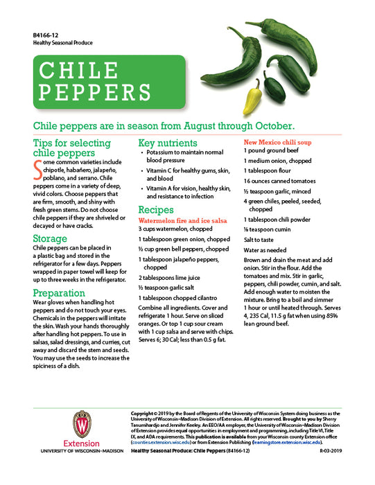 Healthy Seasonal Produce: Chile Peppers