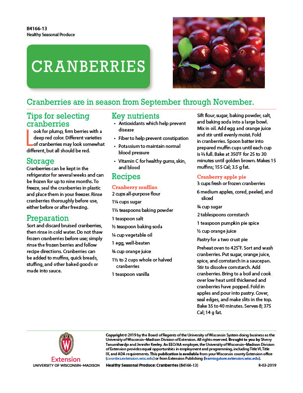 Healthy Seasonal Produce: Cranberries