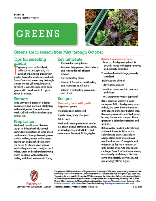 Healthy Seasonal Produce: Greens