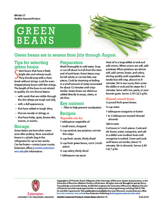 Healthy Seasonal Produce: Green Beans