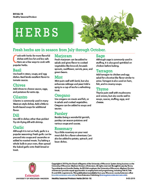 Healthy Seasonal Produce: Herbs
