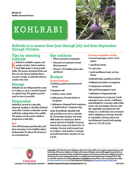 Healthy Seasonal Produce: Kohlrabi