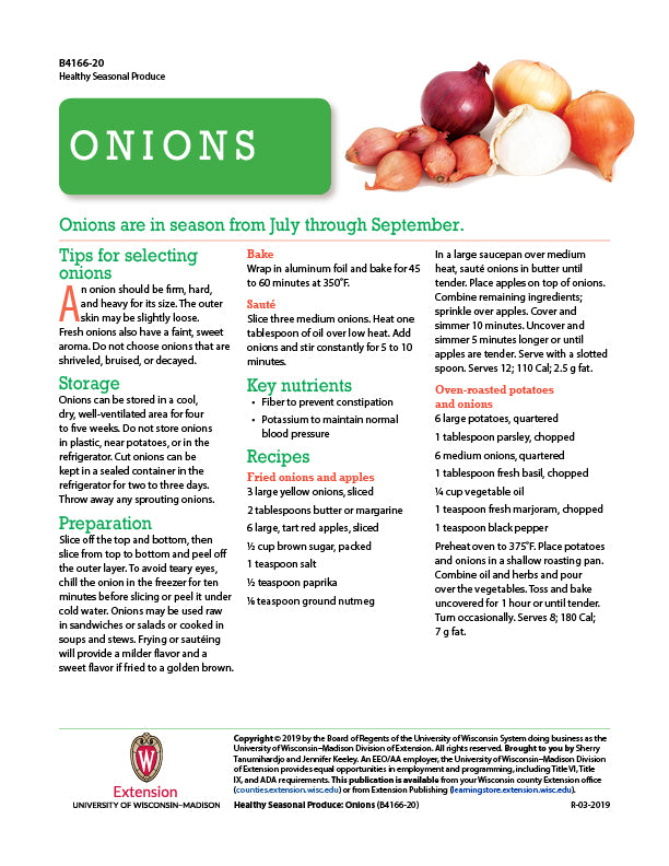 Healthy Seasonal Produce: Onions