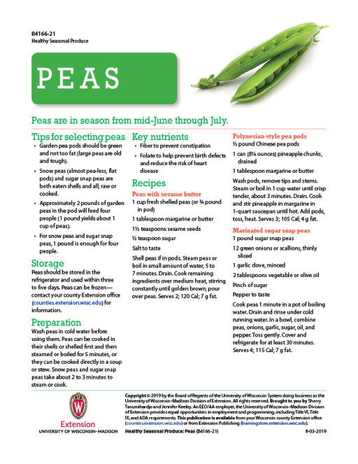 Healthy Seasonal Produce: Peas