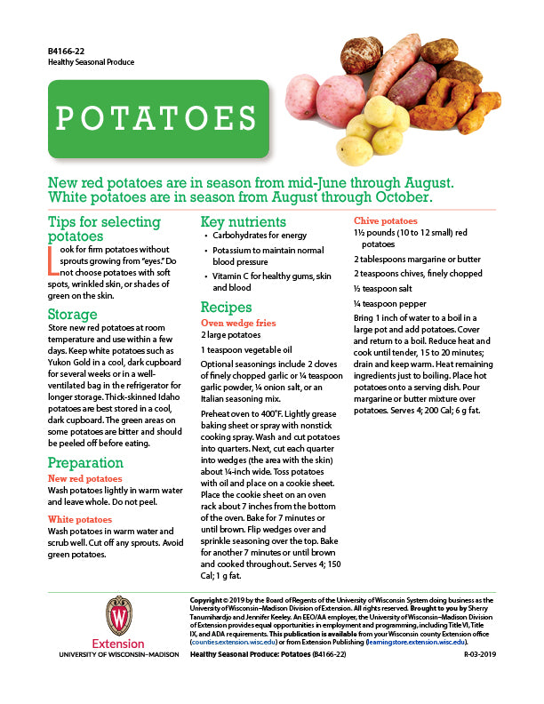 Healthy Seasonal Produce: Potatoes
