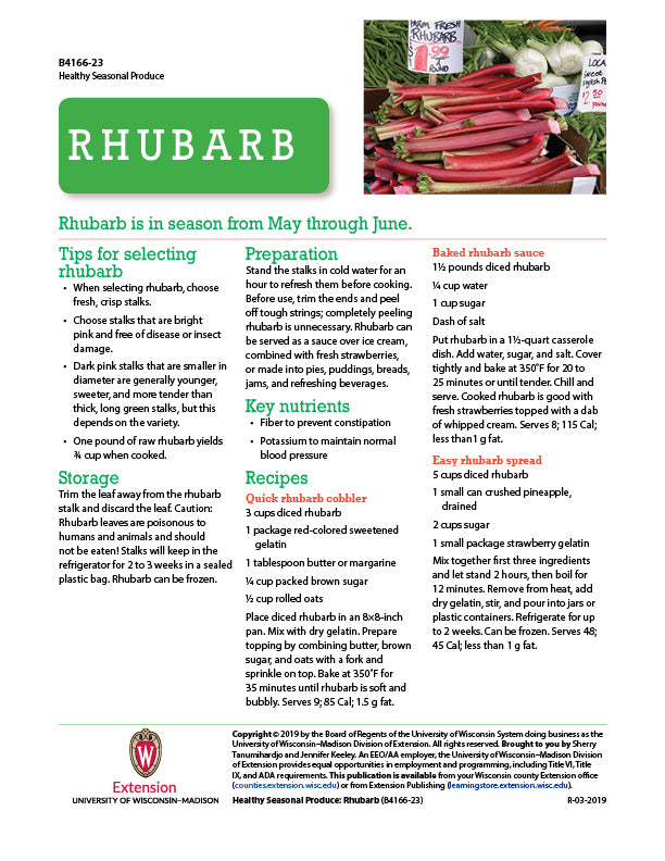 Healthy Seasonal Produce: Rhubarb