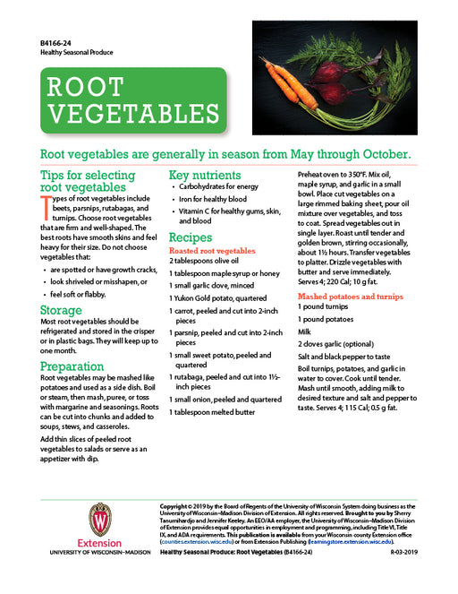 Healthy Seasonal Produce: Root Vegetables