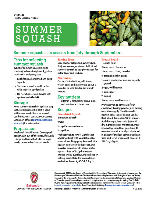 Healthy Seasonal Produce: Summer Squash