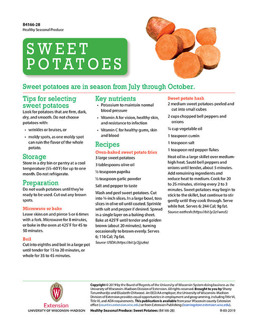 Healthy Seasonal Produce: Sweet Potatoes