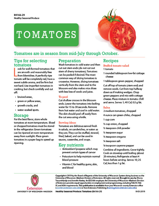 Healthy Seasonal Produce: Tomatoes