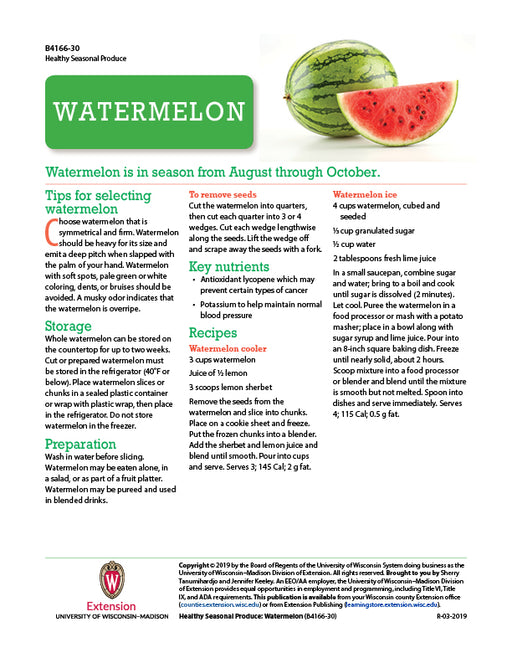 Healthy Seasonal Produce: Watermelon
