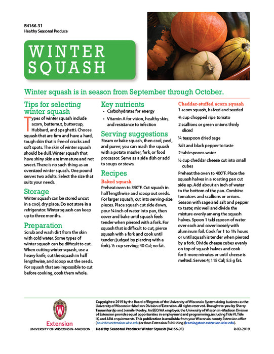 Healthy Seasonal Produce: Winter Squash