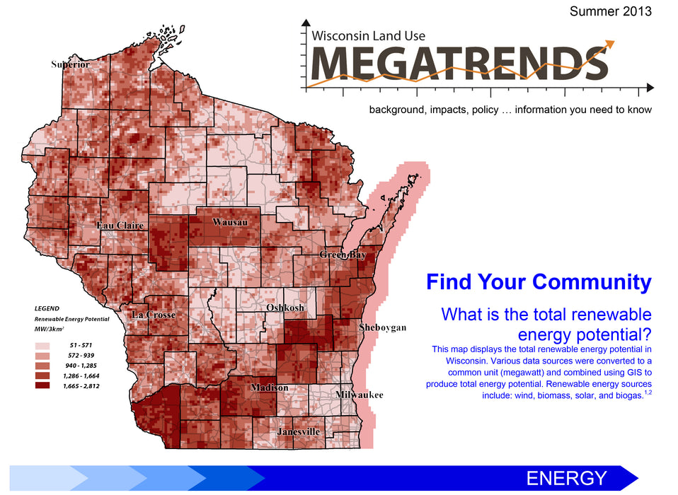 Wisconsin Land Use Megatrends: Energy