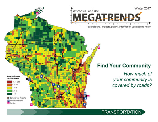 Wisconsin Land Use Megatrends: Transportation