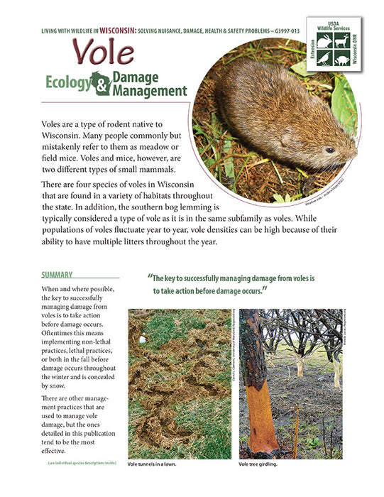 Vole Ecology and Damage Management