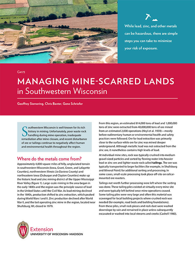 Managing Mine-scarred Lands in Southwestern Wisconsin
