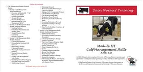 Dairy Workers' Training Module III: Calf Management Skills