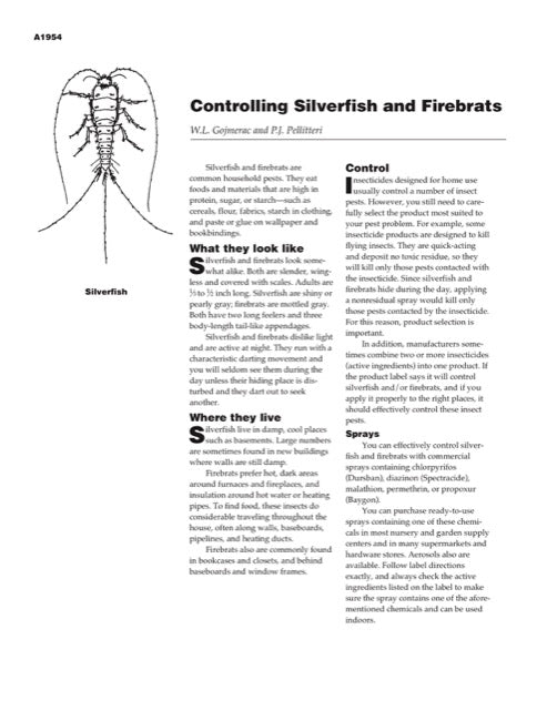 Controlling Silverfish and Firebrats