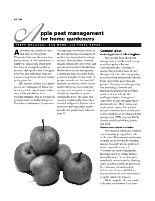 Apple Pest Management for Home Gardeners