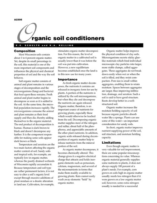 Organic Soil Conditioners