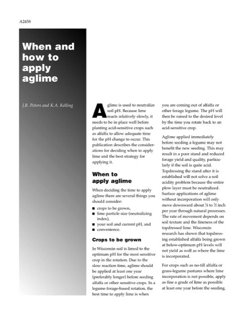 When and How to Apply Aglime