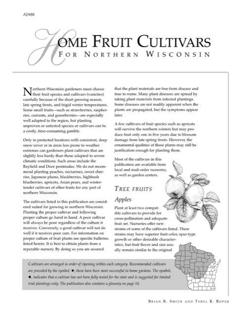 Home Fruit Cultivars for Northern Wisconsin