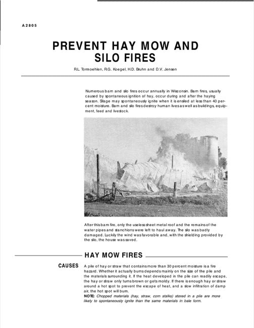 Prevent Hay Mow and Silo Fires