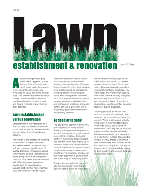 Lawn Establishment and Renovation