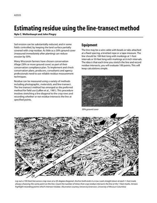 Estimating Residue Using the Line-Transect Method