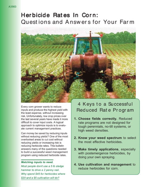 Reduced Herbicide Rates: Aspects to Consider