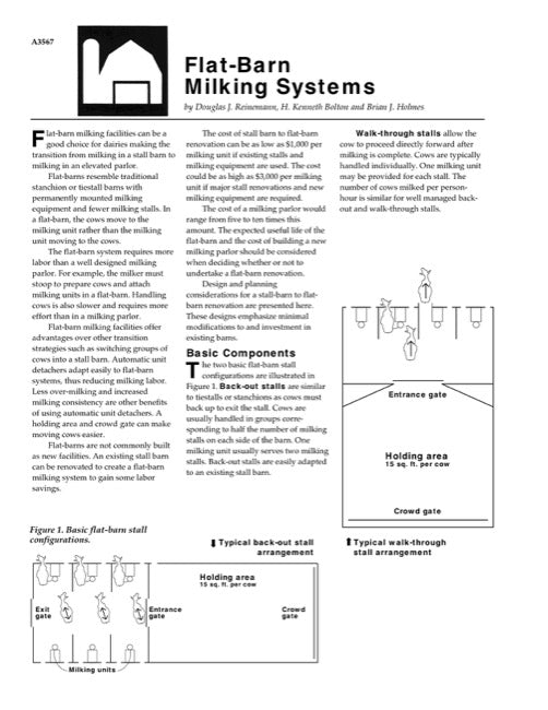 Flat-Barn Milking Systems