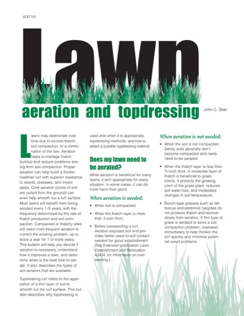 Lawn Aeration and Topdressing