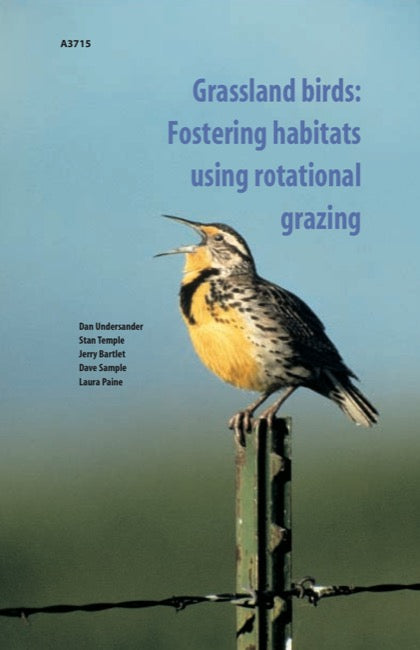 Grassland Birds: Fostering Habitats Using Rotational Grazing