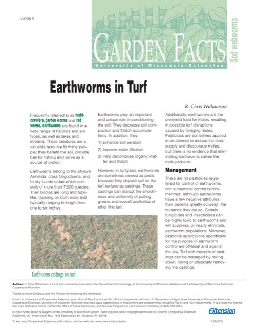 Earthworms in Turf