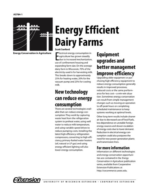 Energy-Efficient Dairy Farms