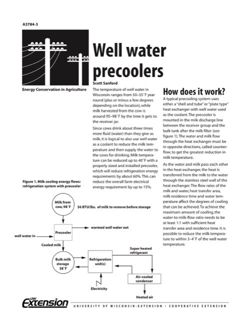Well Water Precoolers