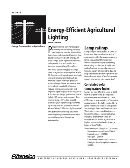 Energy-Efficient Agricultural Lighting