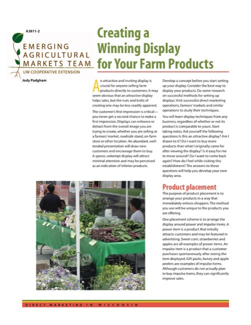 Direct Marketing: Creating a Winning Display for Your Farm Products