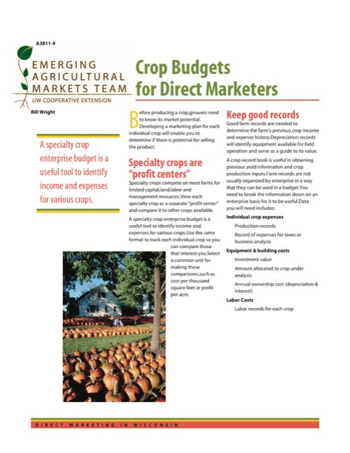 Direct Marketing: Crop Budgets for Direct Marketers