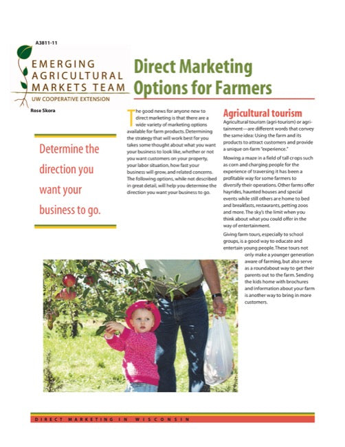 Direct Marketing: Direct Marketing Options for Farmers