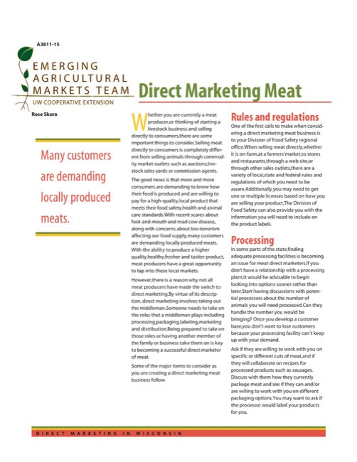 Direct Marketing: Direct Marketing Meat