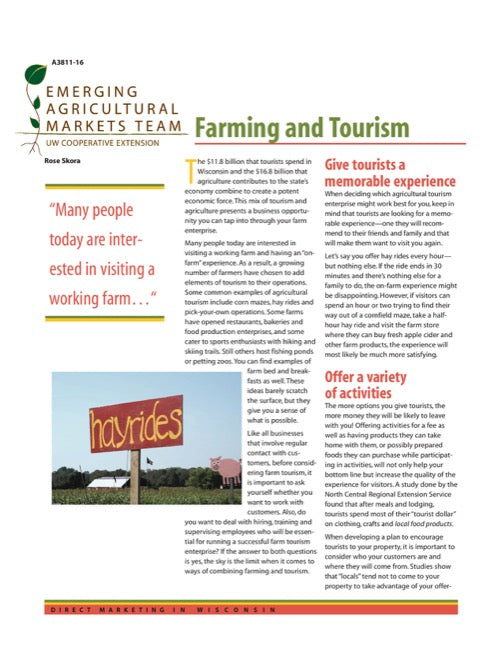 Direct Marketing: Farming and Tourism