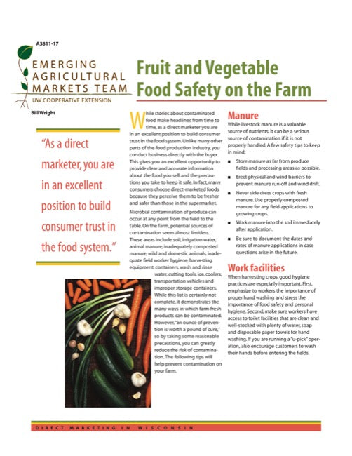 Direct Marketing: Fruit and Vegetable Safety on the Farm
