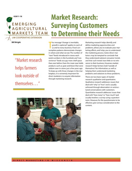 Direct Marketing: Market Research: Surveying Customers to Determine Their Needs
