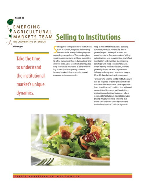 Direct Marketing: Selling to Institutions