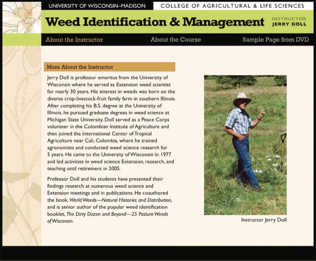 Weed Identification and Management—DVD